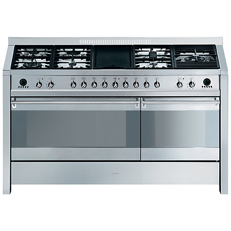 Buy Smeg A5-8 Dual Fuel Range Cooker, Stainless Steel Online at johnlewis.com