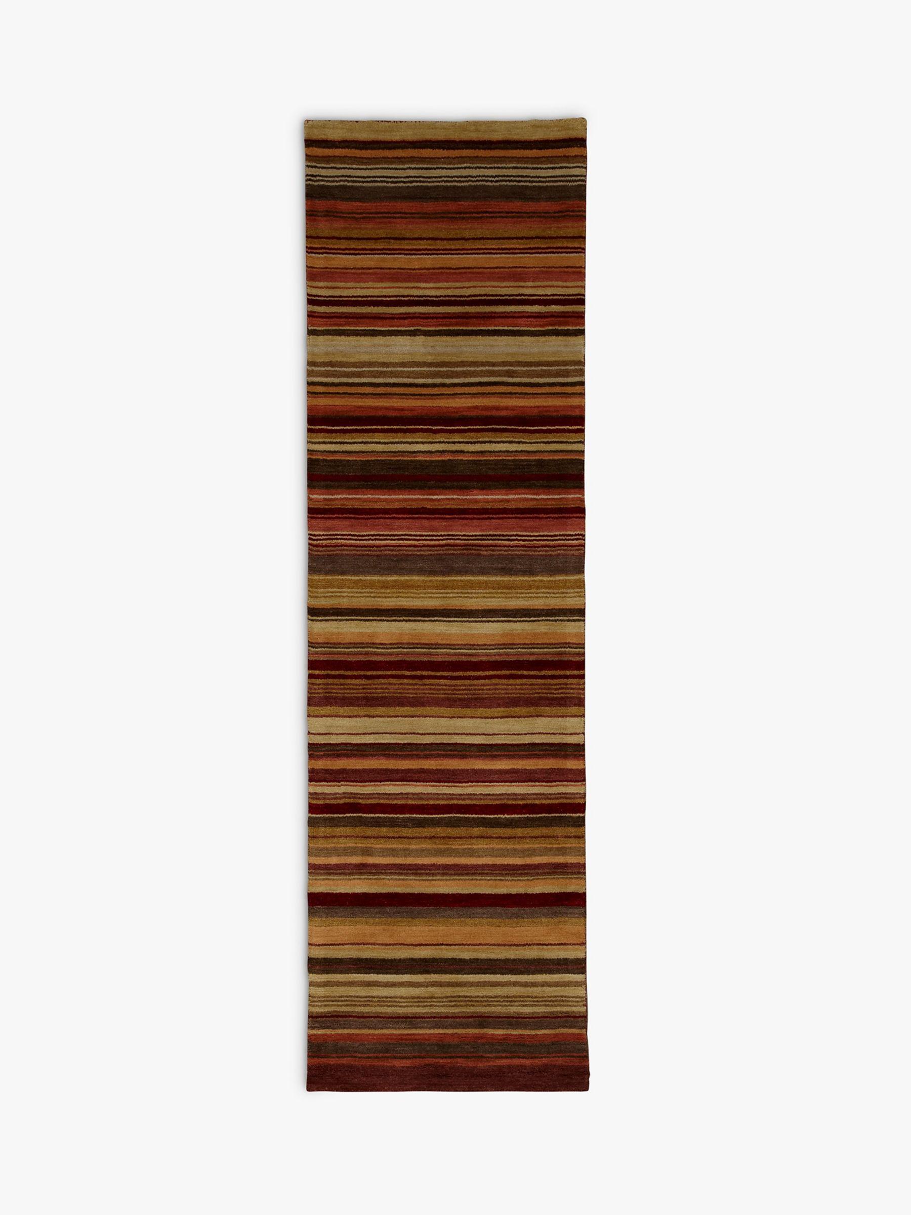 John Lewis & Partners Multi Stripe Runner Rug, Harvest, L240 x W70cm