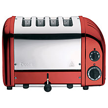 Buy Dualit NewGen Toaster, 4-Slice, Apple Candy Red + FREE Sandwich Cage Online at johnlewis.com