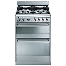 Buy Smeg SUK62MX8 Dual Fuel Cooker, Stainless Steel Online at johnlewis.com