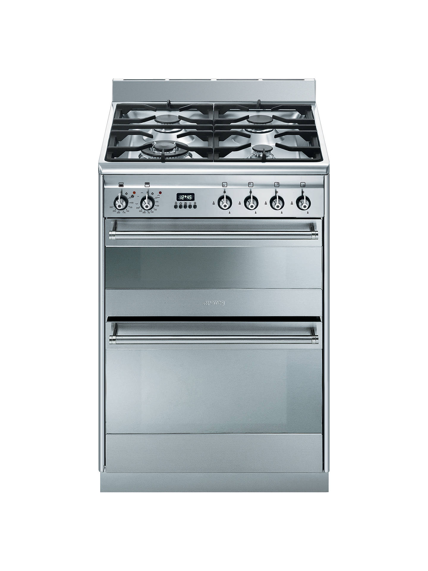 buy smeg suk62mx8 dual fuel cooker, stainless steel online at johnlewis com