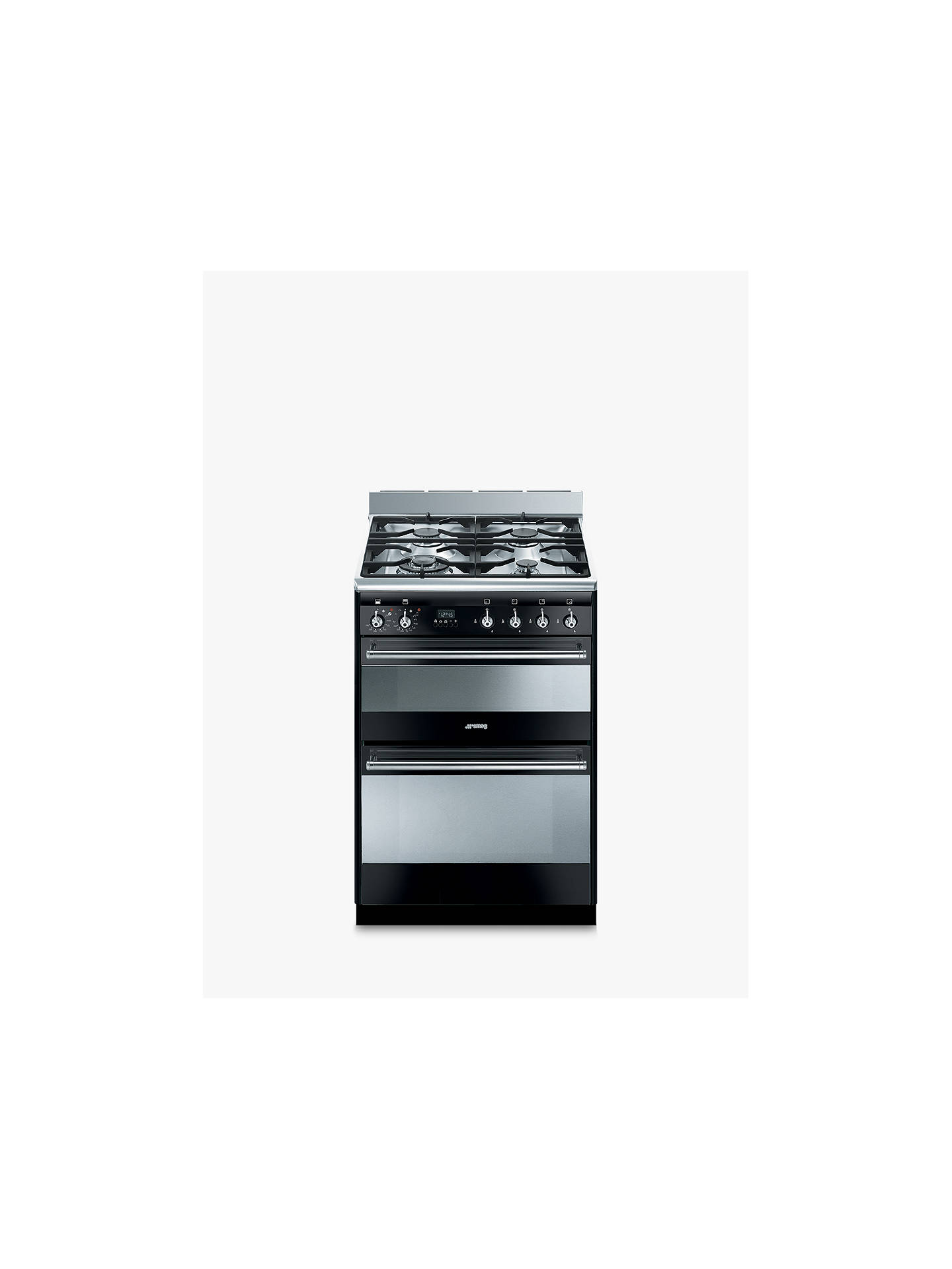 BuySmeg SUK62MBL8 Dual Fuel Cooker, Black Online at johnlewis.com