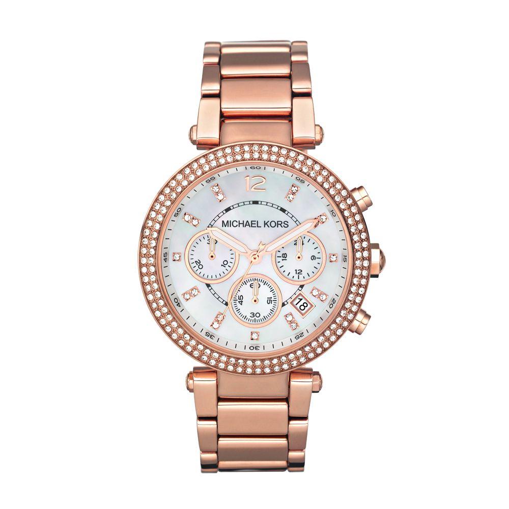b837cb0f73b4 Michael Kors MK5491 Women s Parker Chronograph Stainless Steel Bracelet  Strap Watch