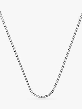 Nina B Curb Chain Necklace, Silver
