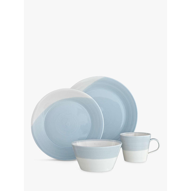 BuyRoyal Doulton 1815 Dinnerware Set White/Blue 16 Pieces Online at johnlewis. & Royal Doulton 1815 Dinnerware Set White/Blue 16 Pieces at John Lewis