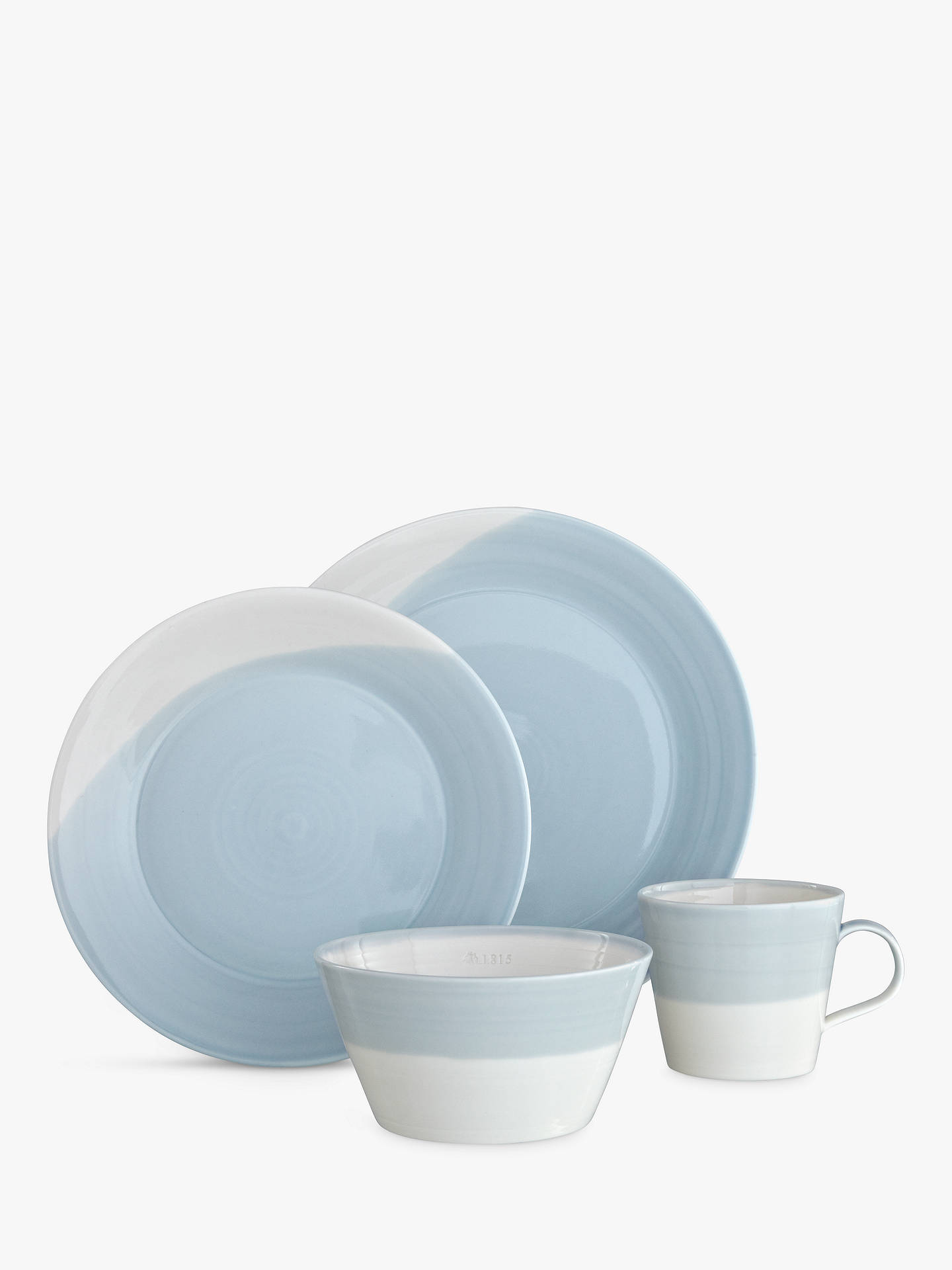 Buy Royal Doulton 1815 Dinnerware Set, White/Blue, 16 Pieces Online at johnlewis.com