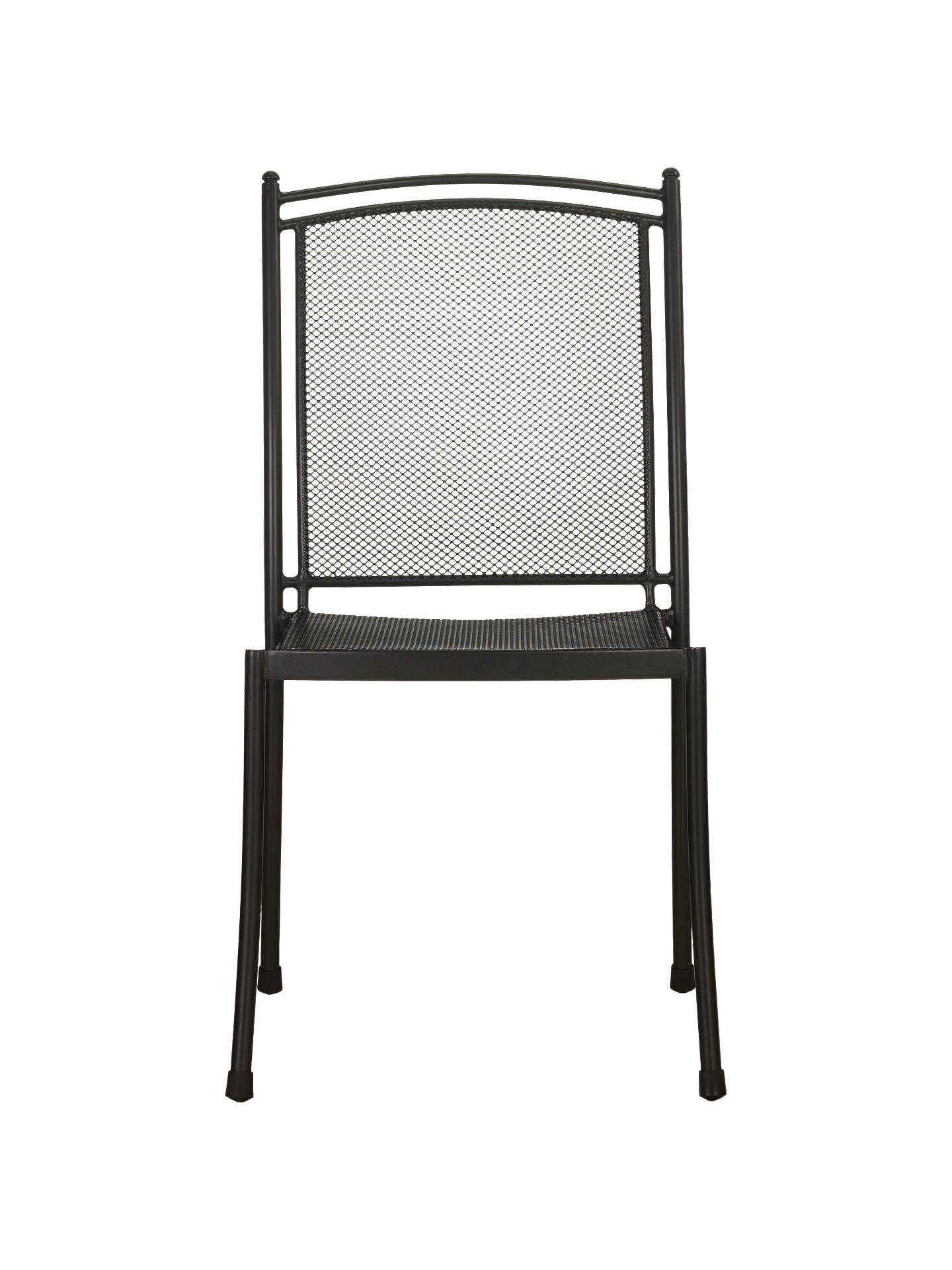 Buy John Lewis & Partners Henley by KETTLER Straight Side Garden Chair, Grey Online at johnlewis.com