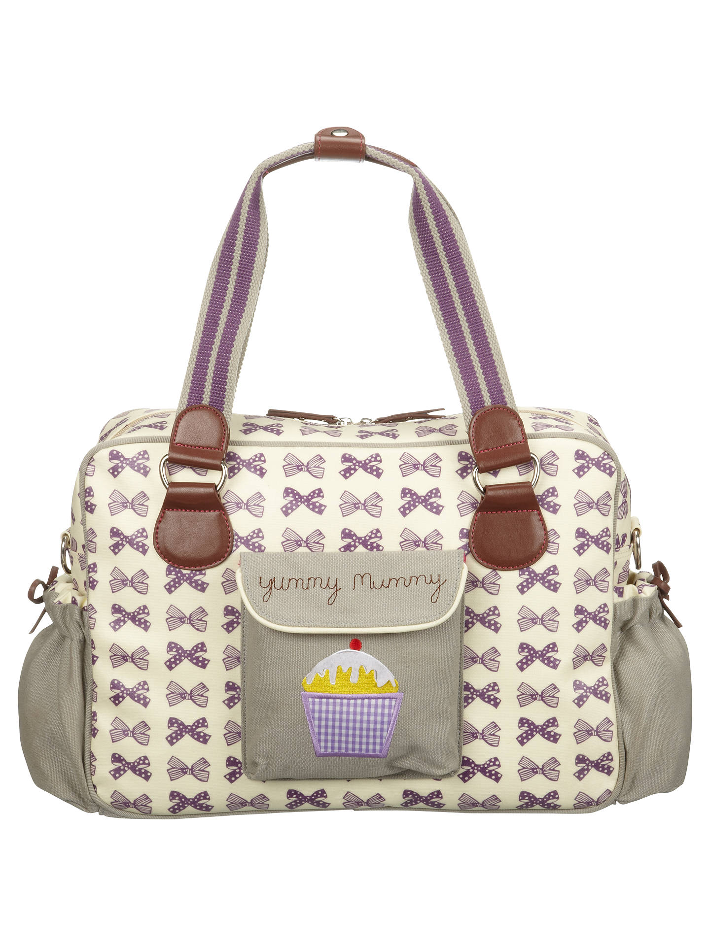 7fbe5a5ff9 Buy Pink Lining Yummy Mummy Bows Changing Bag, Grape Online at  johnlewis.com ...