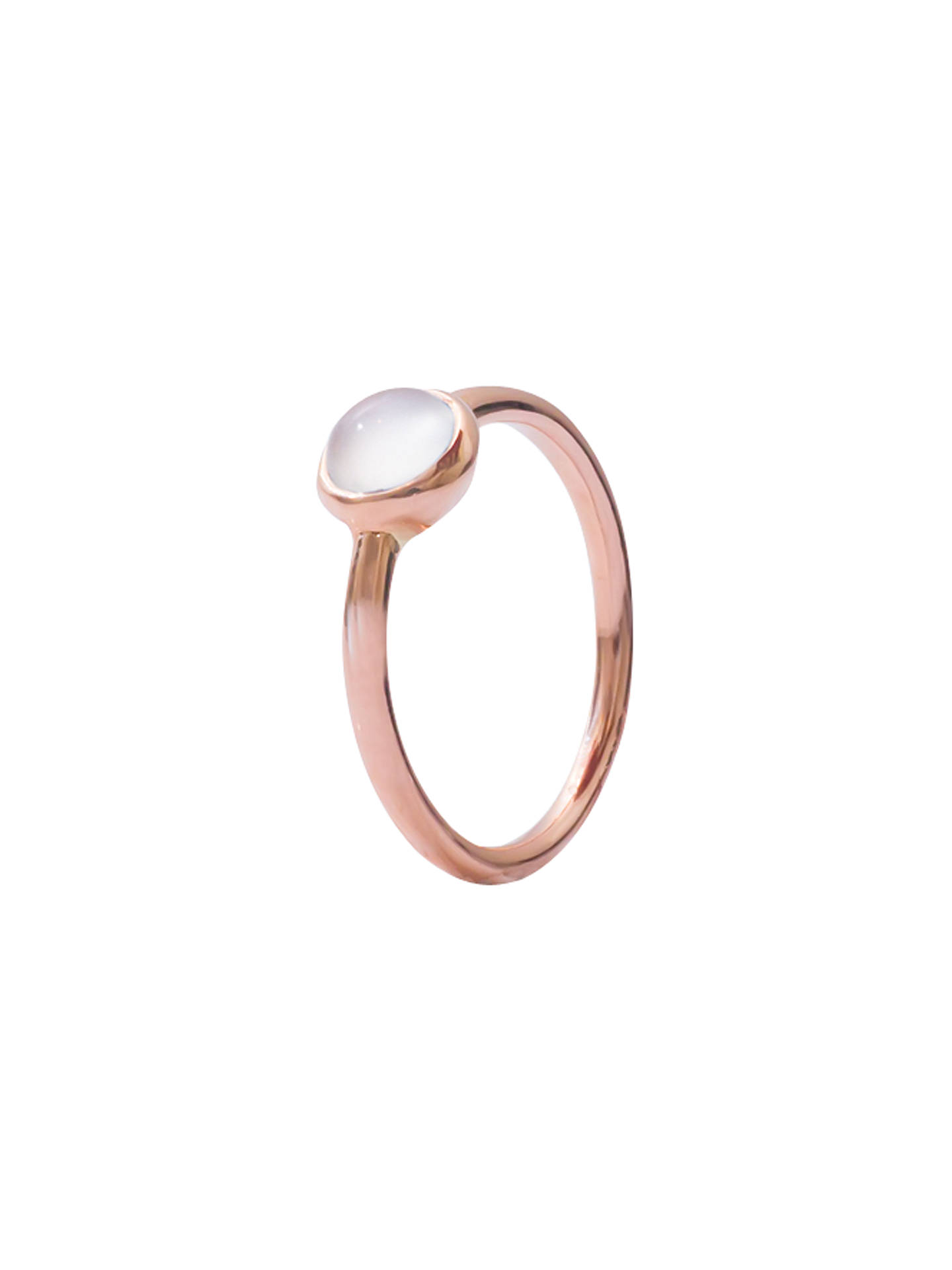 BuyLondon Road 9ct Rose Gold Pimlico Bubble Stacking Ring, Moonstone, N Online at johnlewis.com