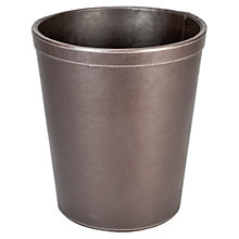 Buy John Lewis Faux Leather Wastepaper Bin Online at johnlewis.com