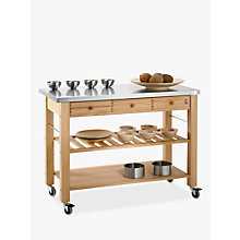 Buy Eddingtons Lambourn 3 Drawer Butchers Trolley with Stainless Steel Top Online at johnlewis.com