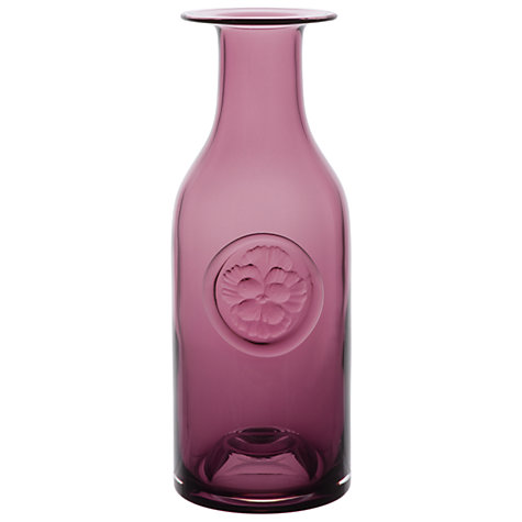 Buy Dartington Crystal Pansy Bottle Vase, Heather Online at johnlewis.com