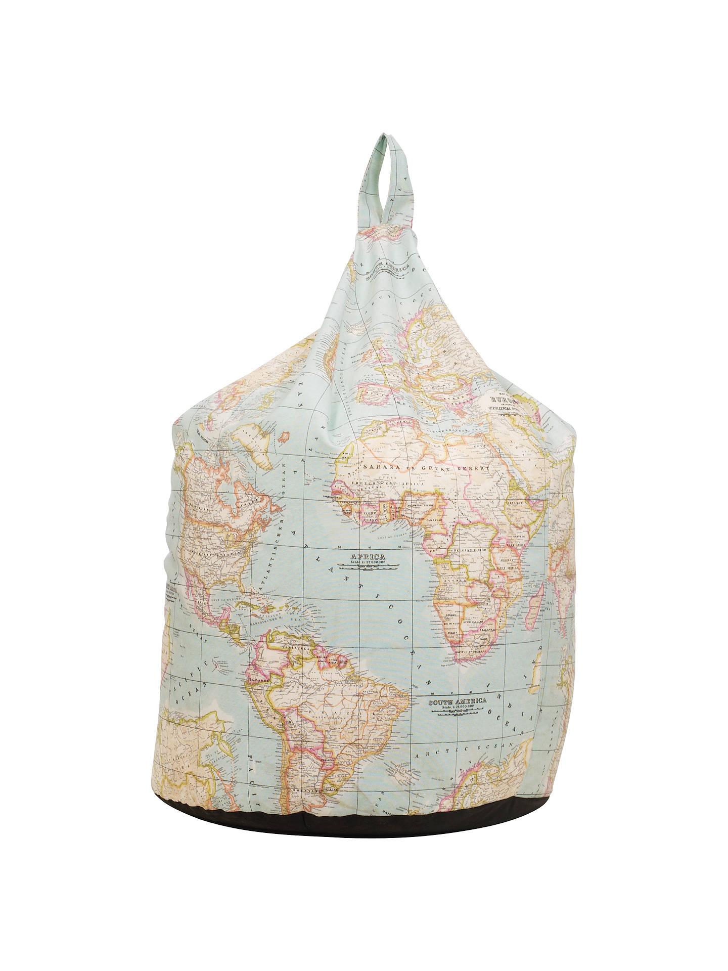 John Lewis World Map Bean Bag Multi At John Lewis Amp Partners