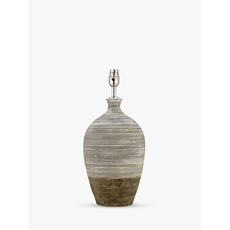 Buy John Lewis Stoneware Ribbed Lamp Base, Urn Online at johnlewis.com
