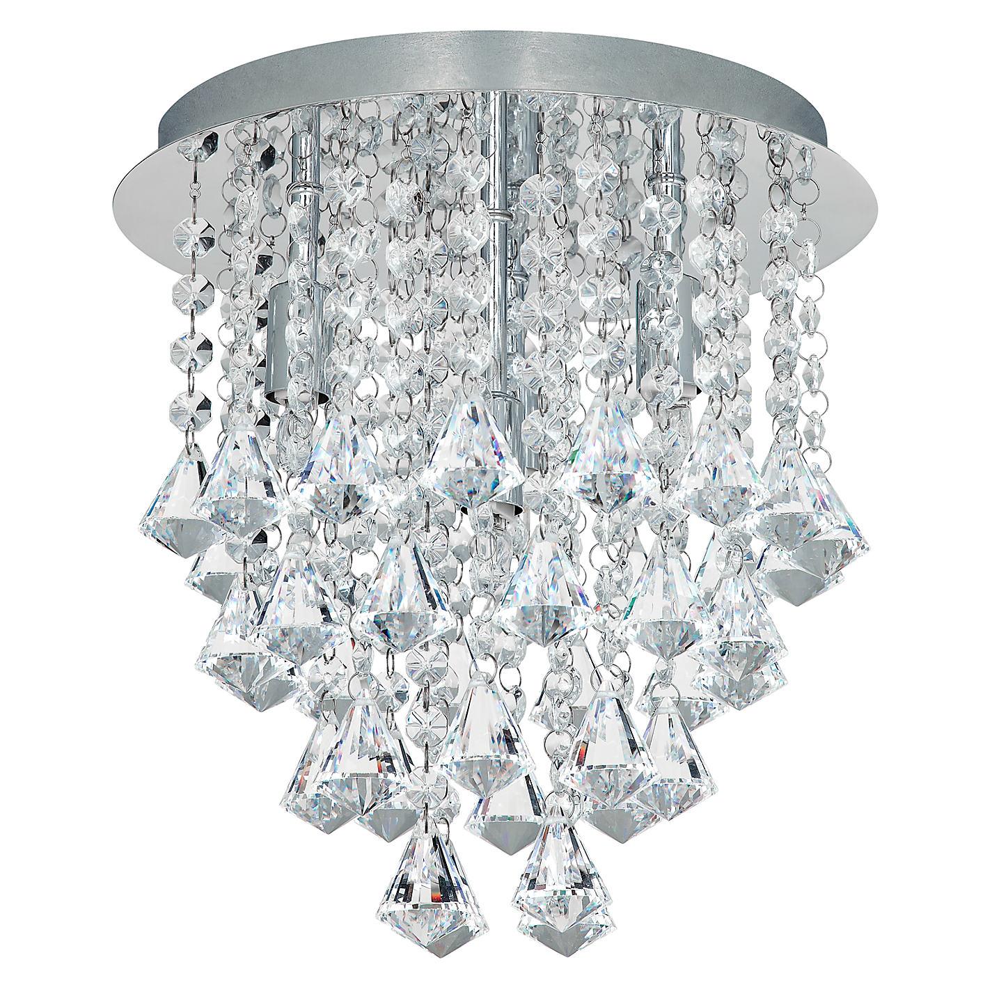 Buy john lewis katelyn semi flush ceiling light crystal john lewis buy john lewis katelyn semi flush ceiling light crystal online at johnlewis mozeypictures Gallery