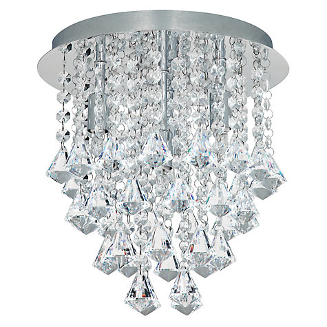 Buy John Lewis Katelyn Semi Flush Ceiling Light, Crystal Online at johnlewis.com