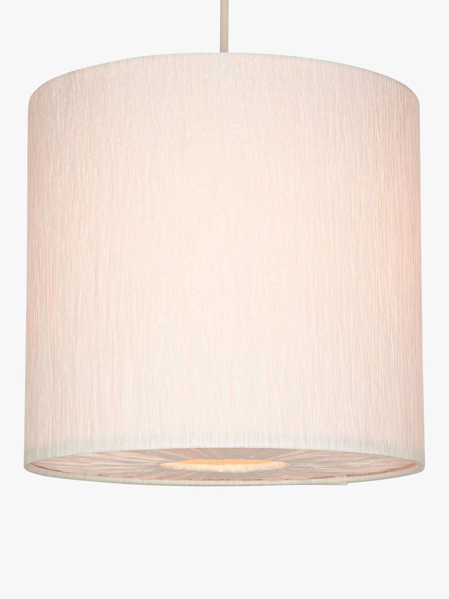 Buy John Lewis & Partners Small Libby Easy-to-Fit Ceiling Shade, Cream Online at johnlewis.com