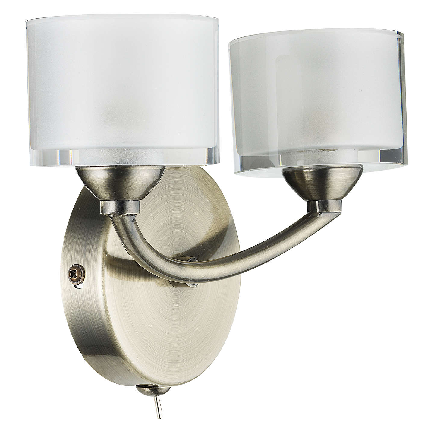 John lewis paige double wall light at john lewis buyjohn lewis paige double wall light antique brass online at johnlewis mozeypictures Images