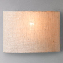 Buy John Lewis Samantha Uplighter Linen Wall Light Online at johnlewis.com