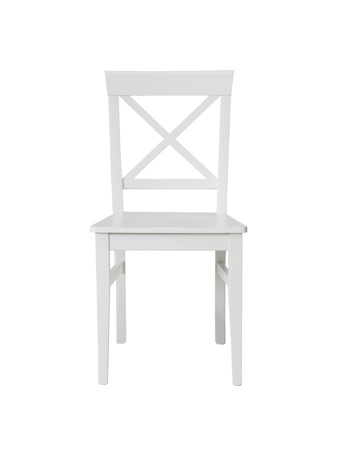 Buy Pemberley Cross-Back Dining Chair, White Online at johnlewis.com
