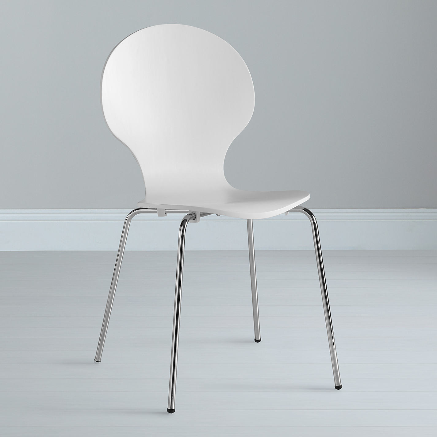 Buy House by John Lewis Curve Dining Chair White