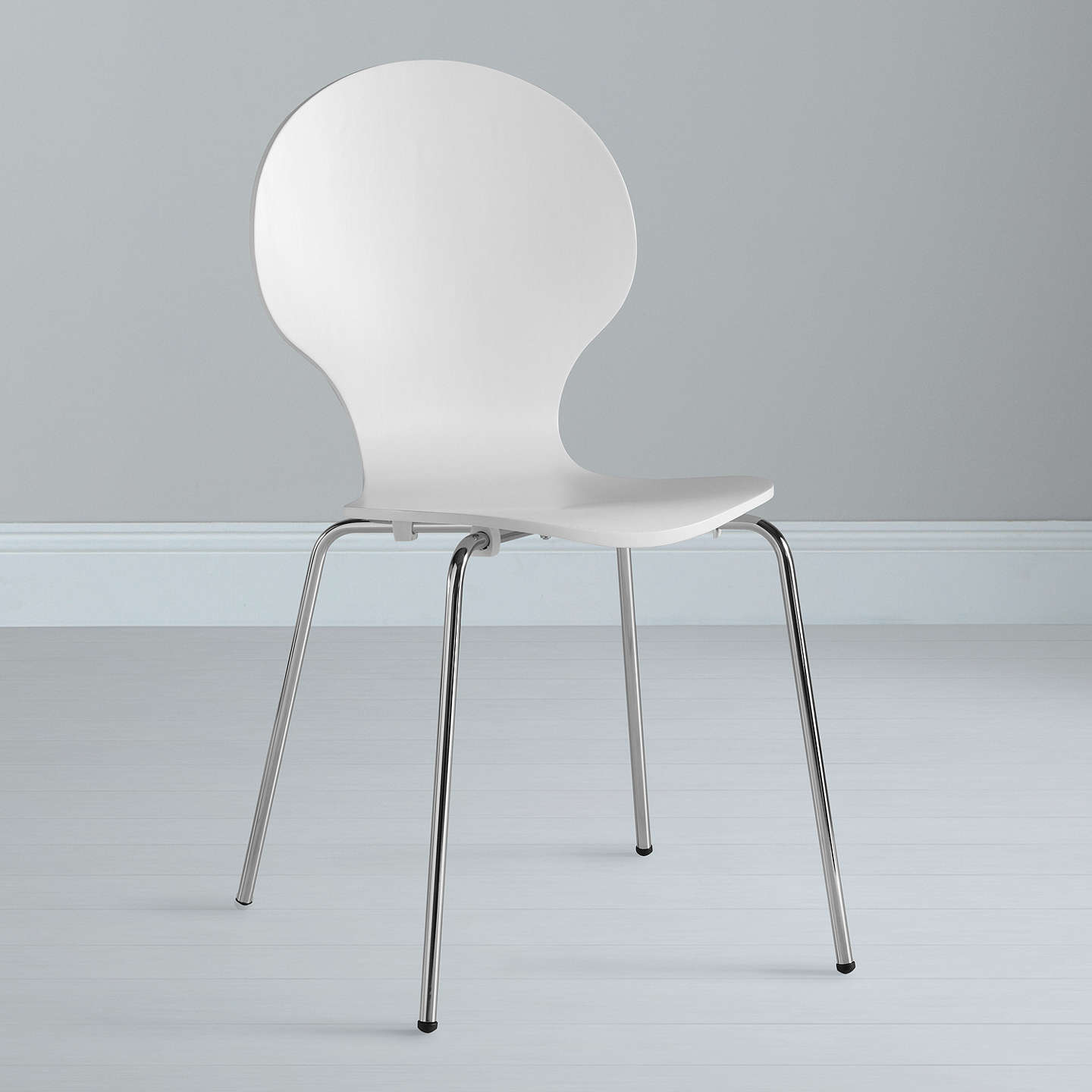 House by john lewis curve dining chair white at john lewis for John lewis chinese furniture