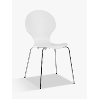 House by John Lewis Curve Dining Chair, White