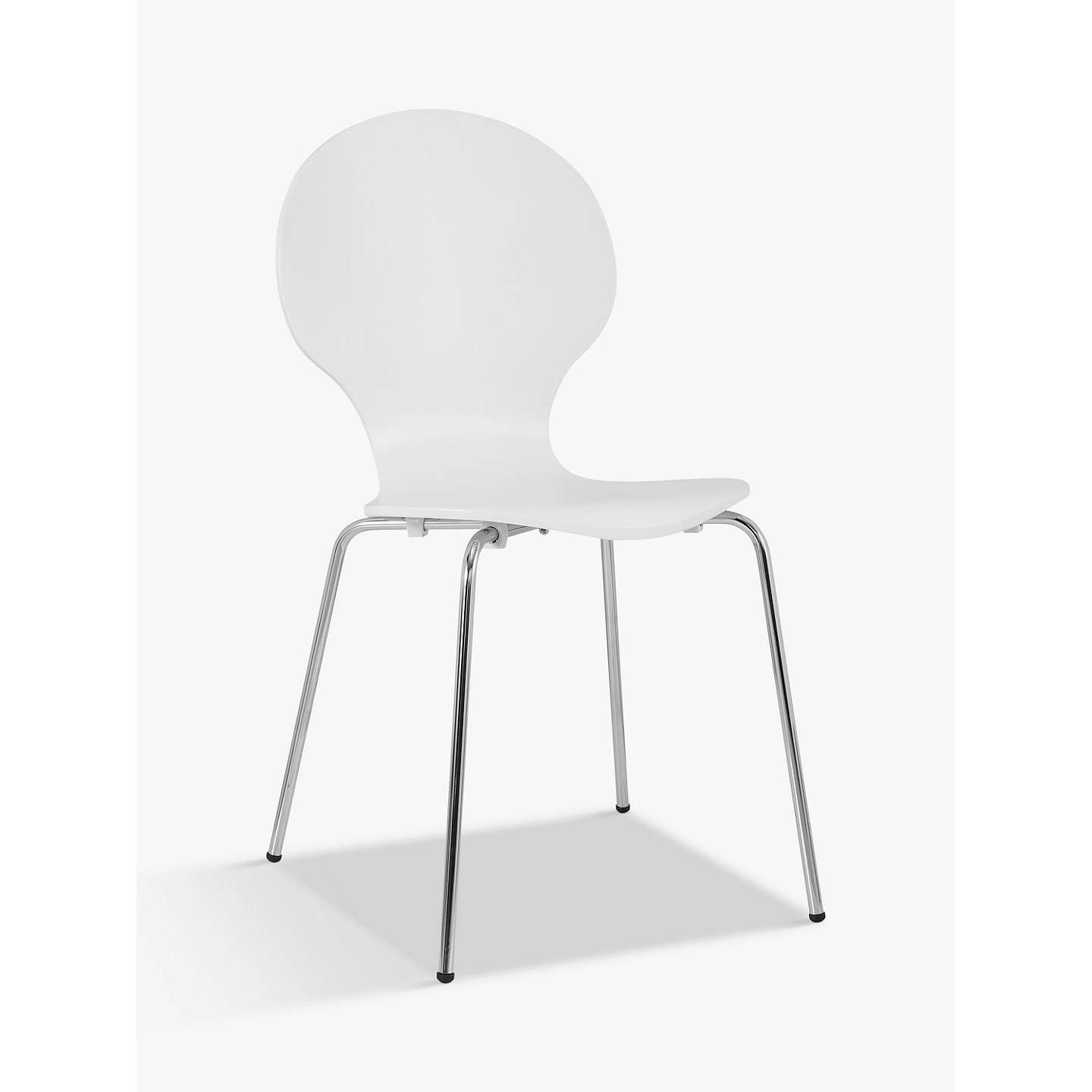 BuyHouse By John Lewis Curve Dining Chair, White Online At Johnlewis.com ...