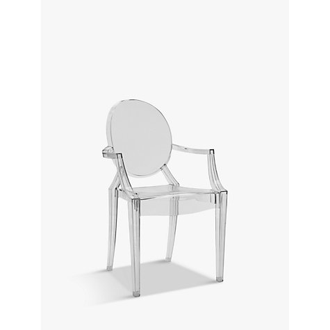 Buy philippe starck for kartell louis ghost chair john lewis for Chaise louis ghost kartell
