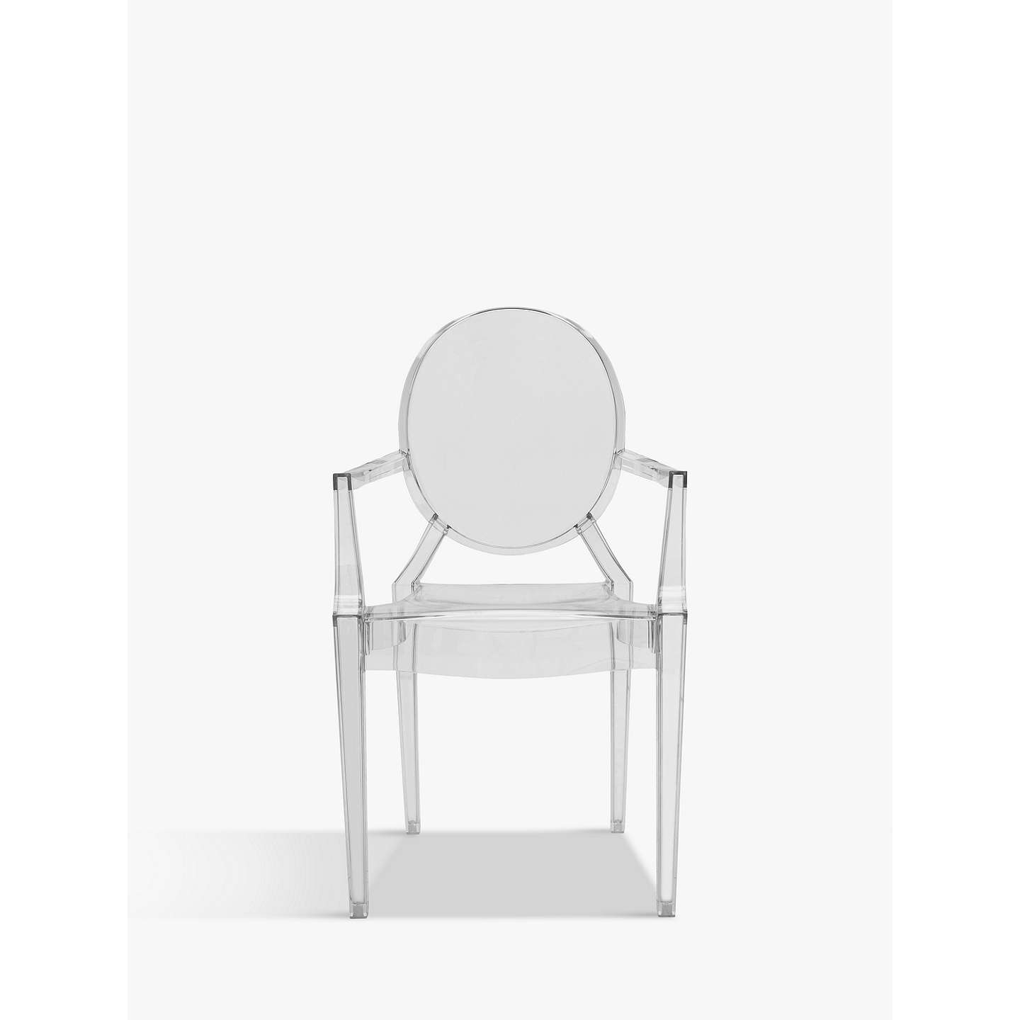 BuyPhilippe Starck for Kartell Louis Ghost Chair, Crystal Online at johnlewis.com