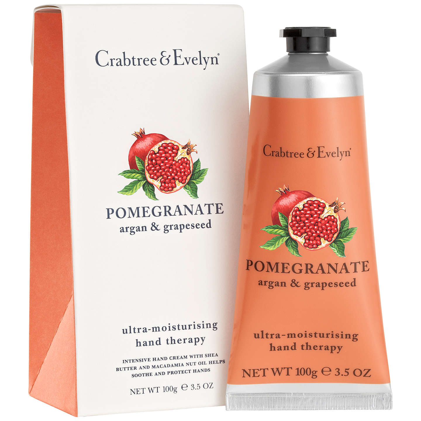 BuyCrabtree & Evelyn Pomegranate Hand Therapy Cream, 100g Online at johnlewis.com