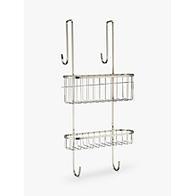 buy john lewis over door double shelf shower caddy online at