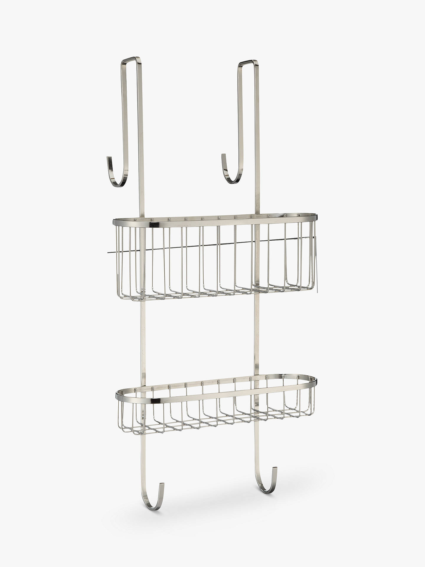 Buy John Lewis & Partners Over Door Double Shelf Shower Basket Online at johnlewis.com