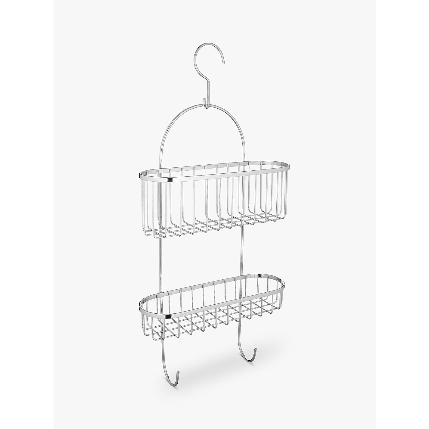 Buy John Lewis Shower Basket With Hooks Online At Johnlewis.com ...
