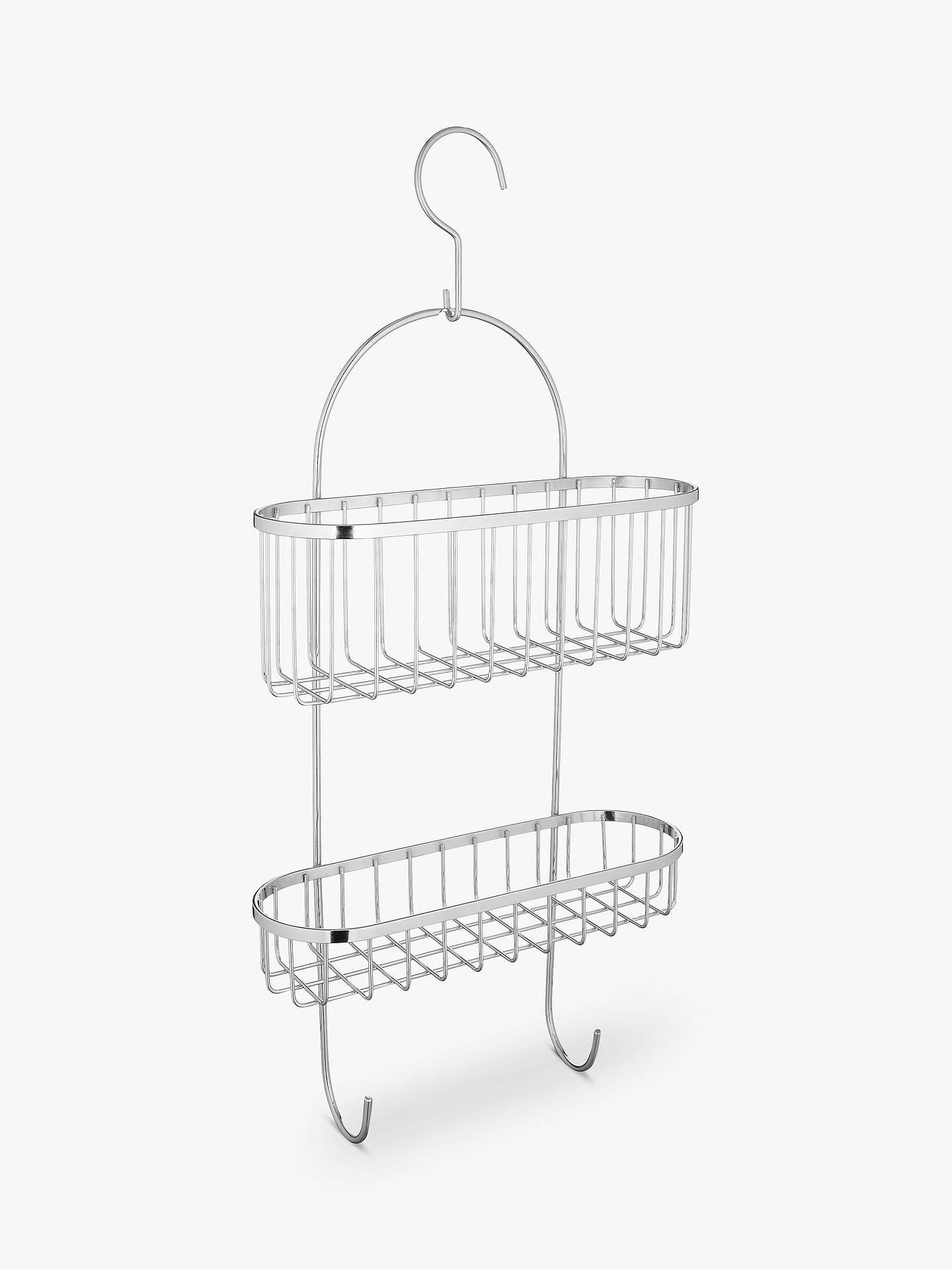 John Lewis & Partners Shower Basket with Hooks at John Lewis & Partners