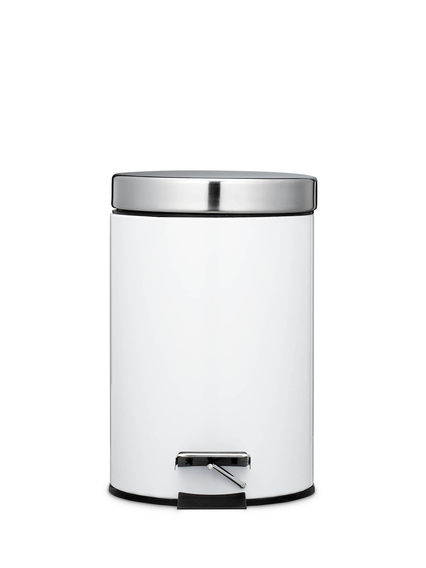 john lewis partners new york white gloss pedal bin 3l. Black Bedroom Furniture Sets. Home Design Ideas