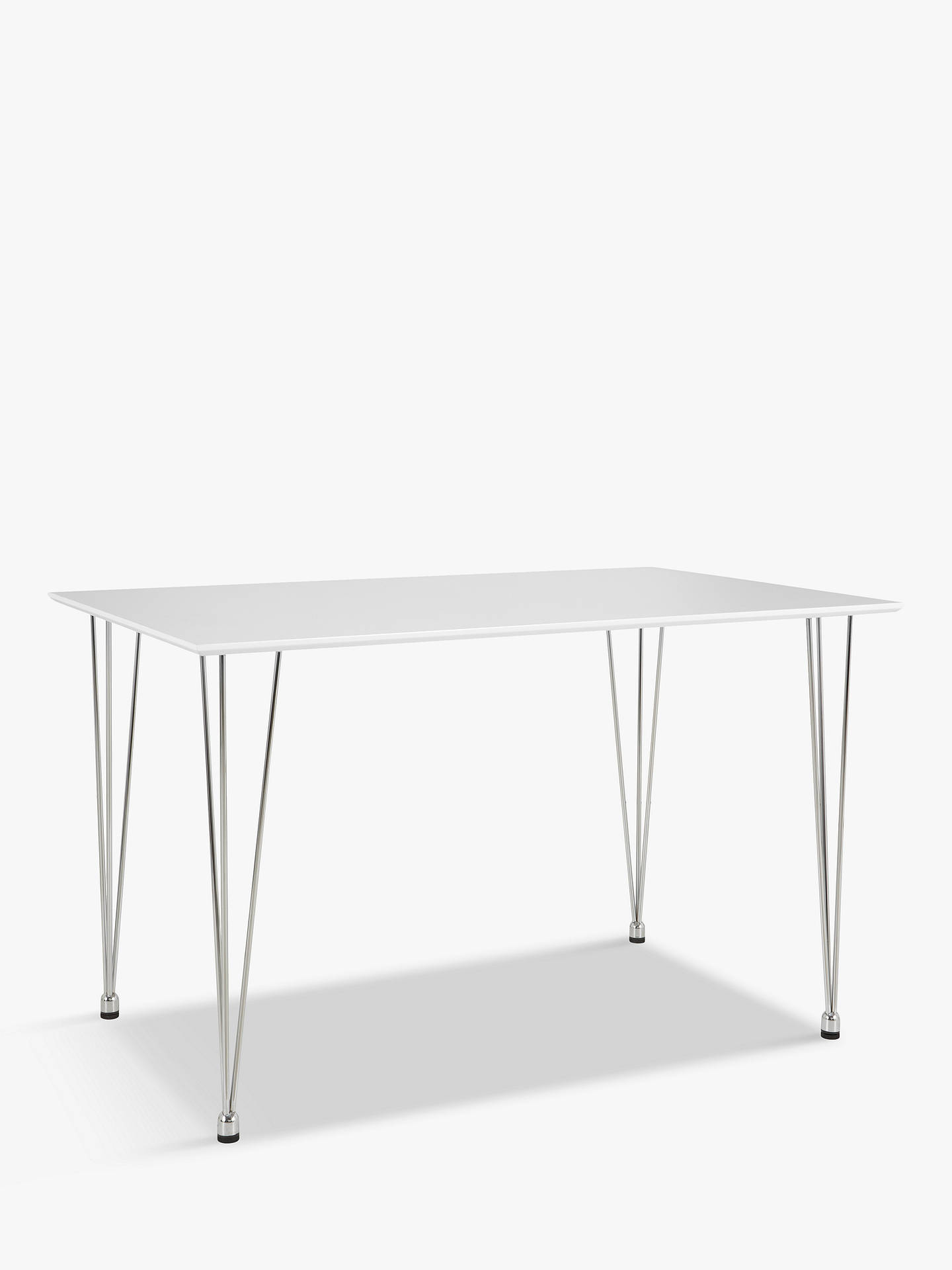 Buy House By John Lewis Jasper 6 Seater Dining Table White Online At Johnlewis