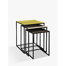 Buy Content by Terence Conran Accents, Nest of 3 Tables, Putty/Chartreuse/Steel Online at johnlewis.com