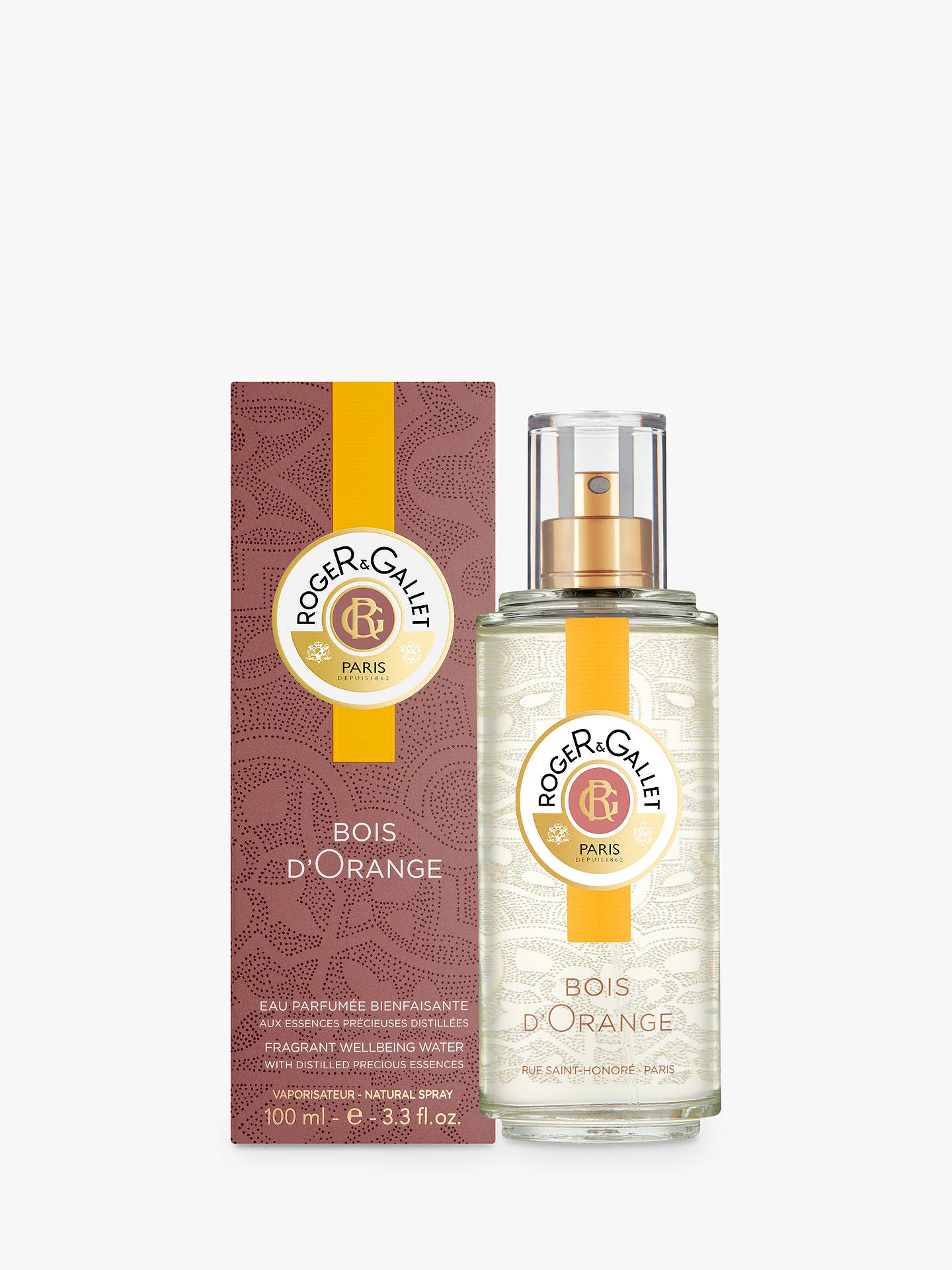 BuyRoget & Gallet Bois d'Orange Fragrant Water Spray, 100ml Online at johnlewis.com