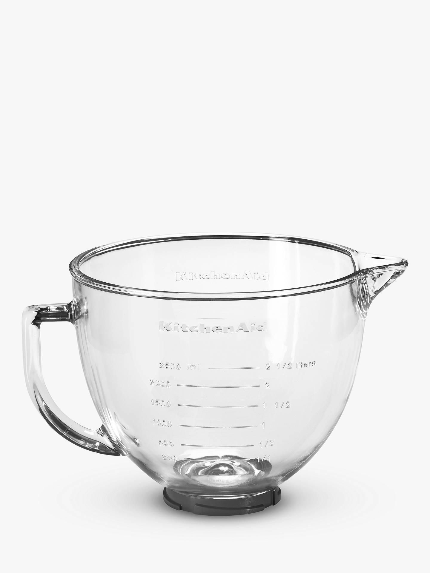 Kitchenaid 4 83l Glass Bowl For Stand Mixer At John Lewis