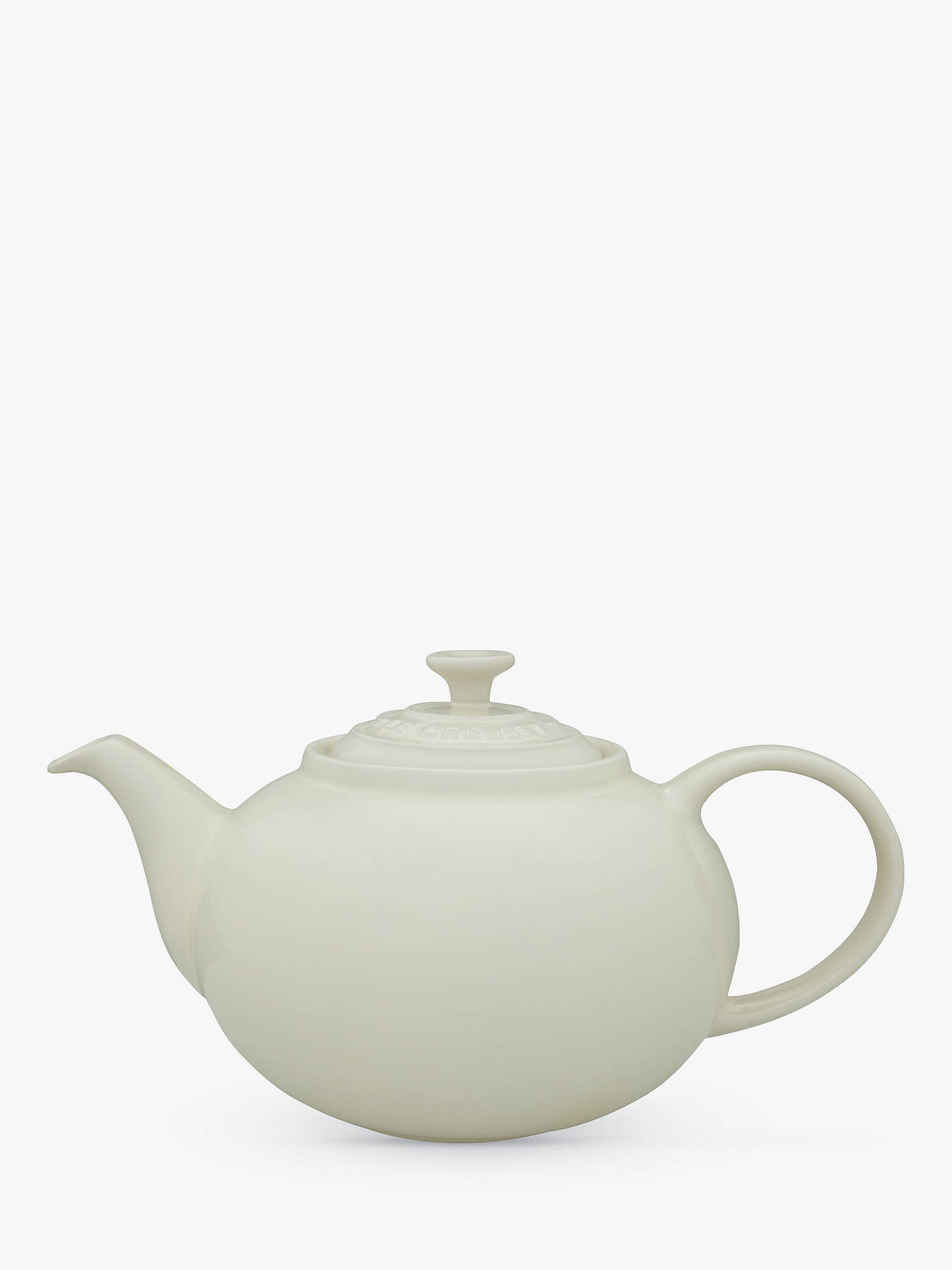 BuyLe Creuset Stoneware Classic 5 Cup Teapot, 1.3L, Almond Online at johnlewis.com