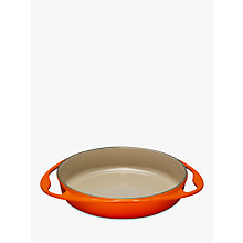 Buy Le Creuset Cast Iron 25cm Tatin Oven Dish, Volcanic Online at johnlewis.com