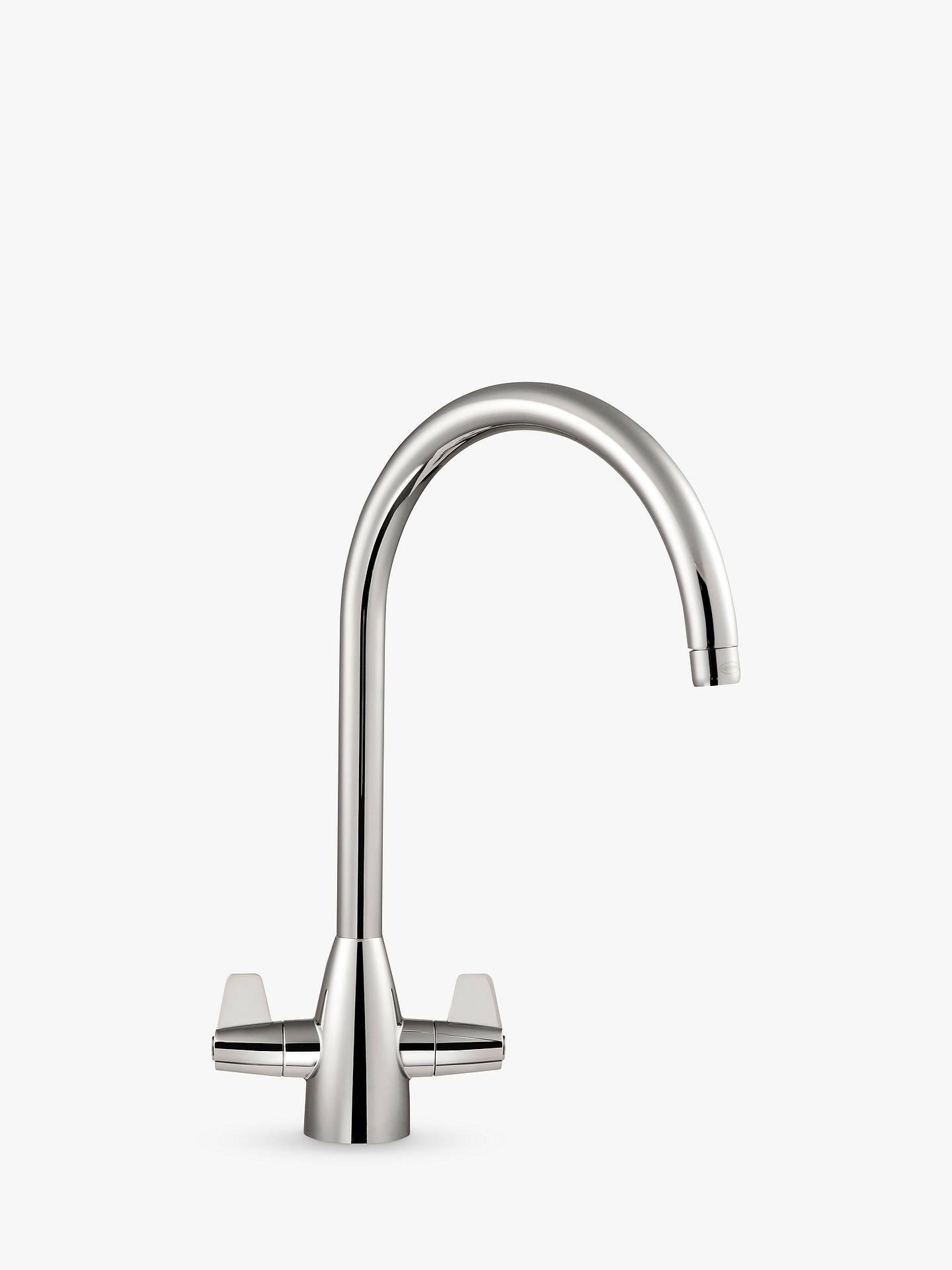 Franke Davos J Spout 2 Lever Kitchen Tap, Chrome