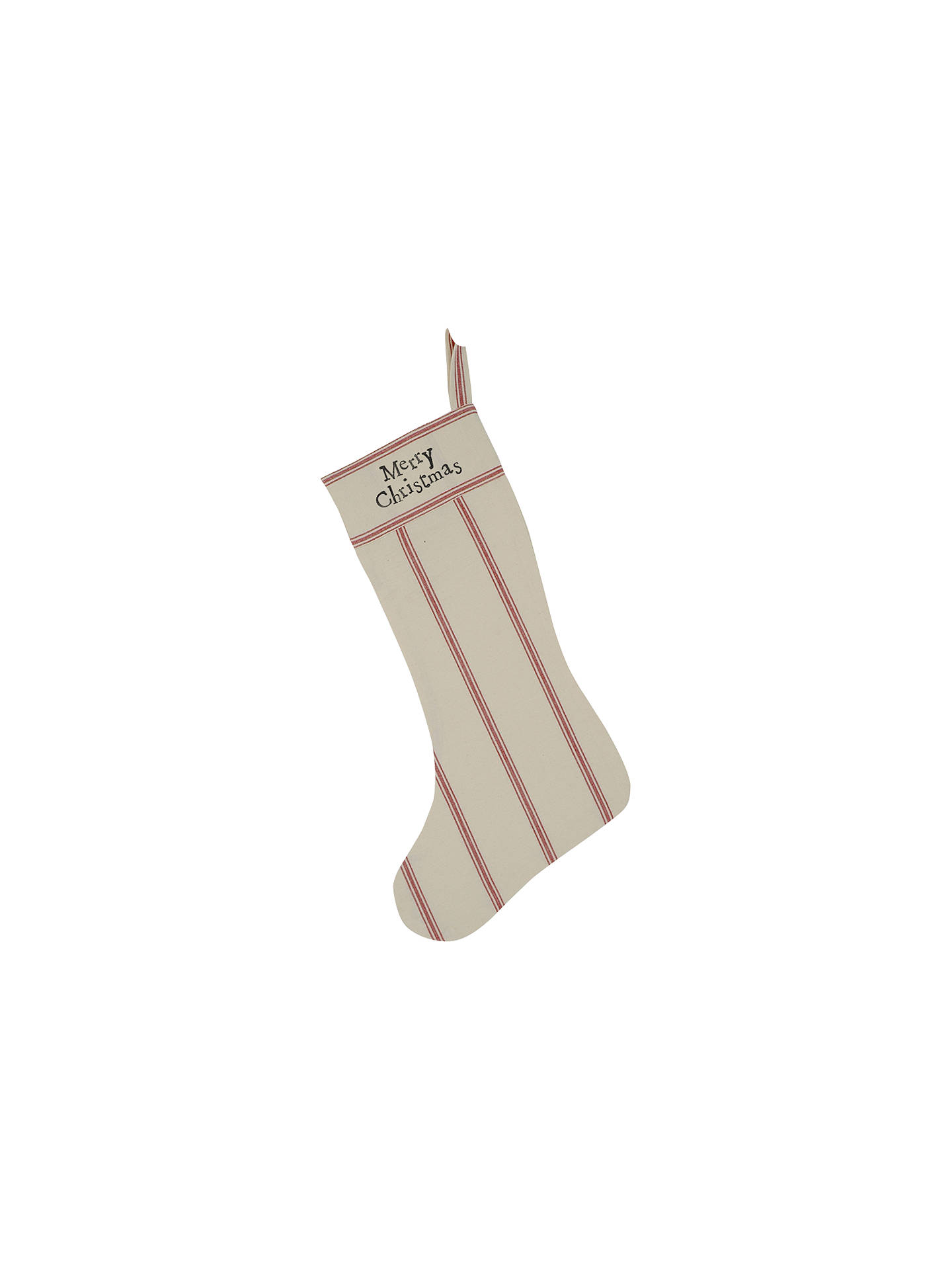 East of India Red Stripe Christmas Stocking at John Lewis & Partners