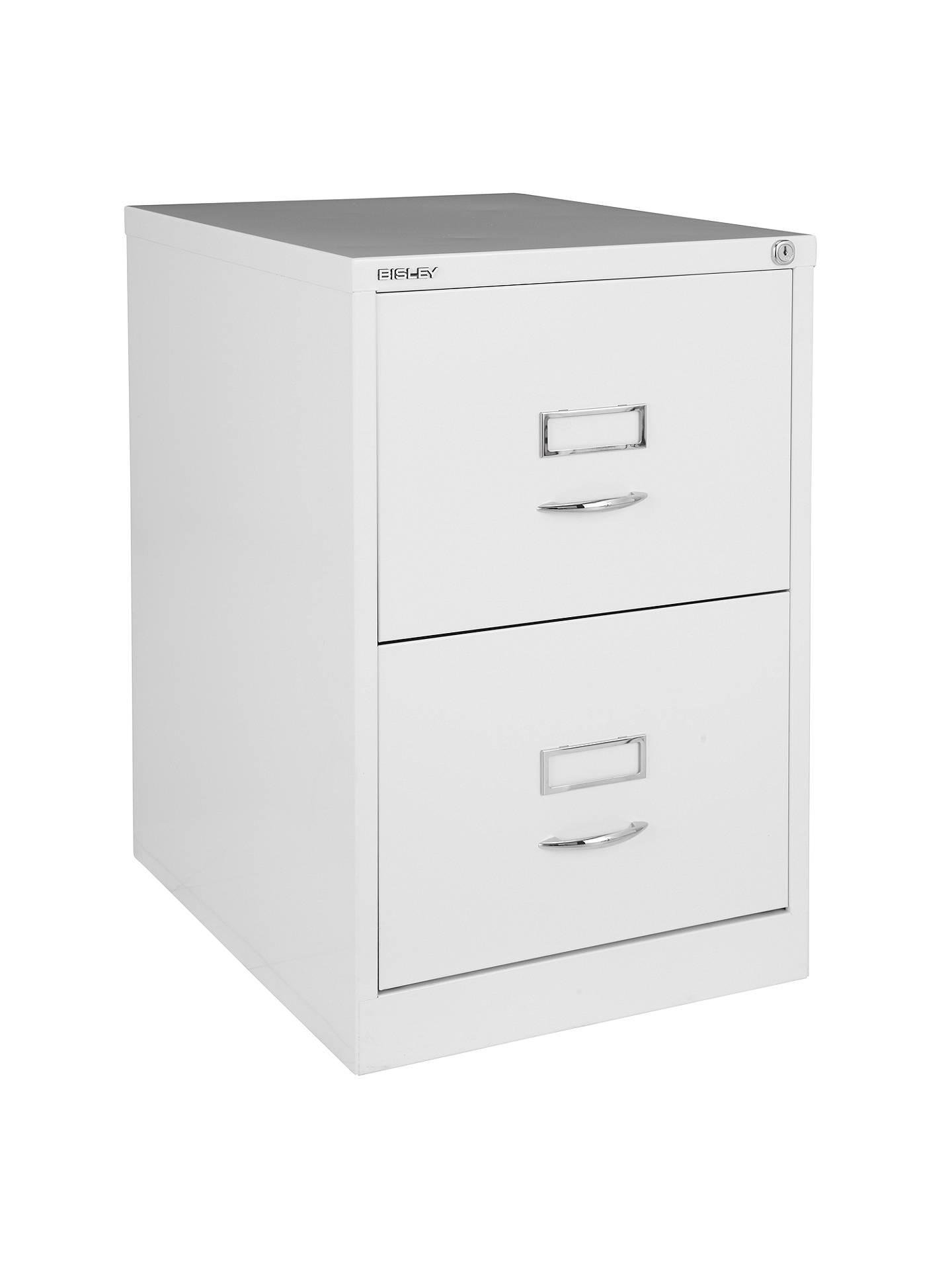 Bisley 2 Drawer Filing Cabinet Chalk Online At Johnlewis