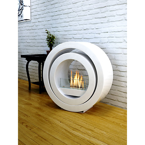 Buy Imagin Globus Bioethanol Fireplace, White Online at johnlewis.com