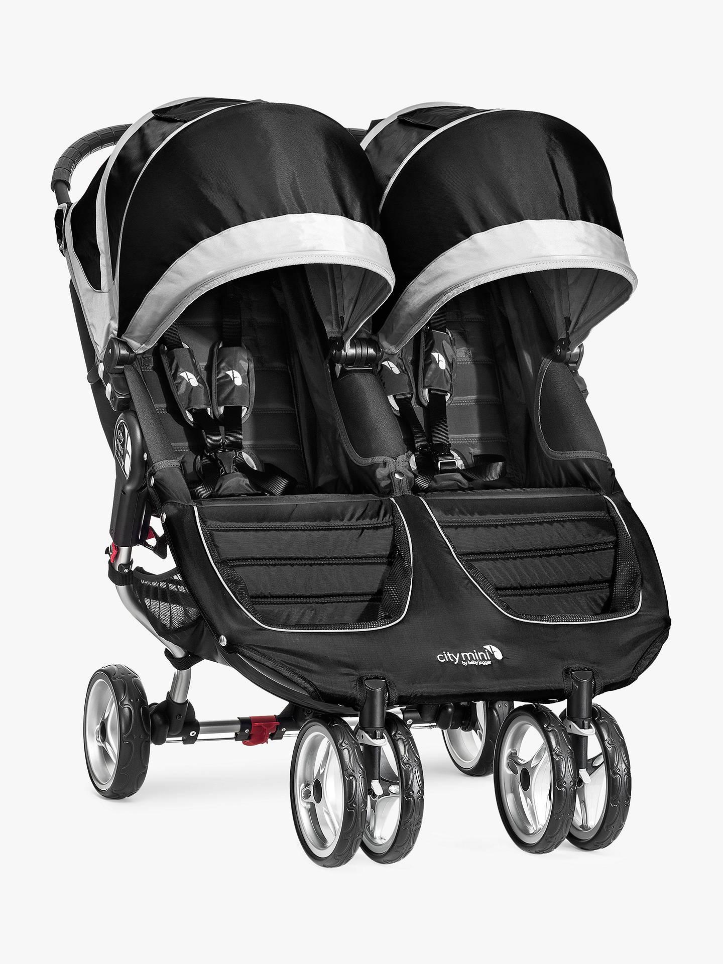 Baby Jogger City Mini Twin Pushchair Black At John Lewis
