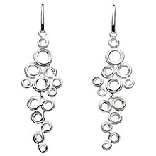 Buy Kit Heath Coil Cluster Drop Earrings, Silver Online at johnlewis.com