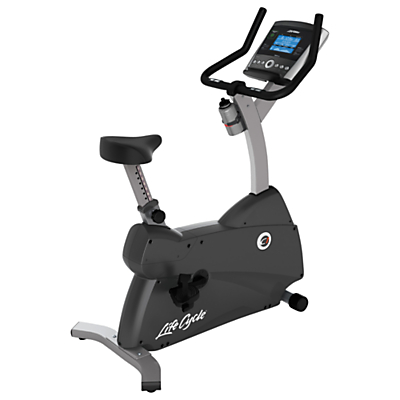 Product photo of Life fitness lifecycle c1 upright exercise bike with go console