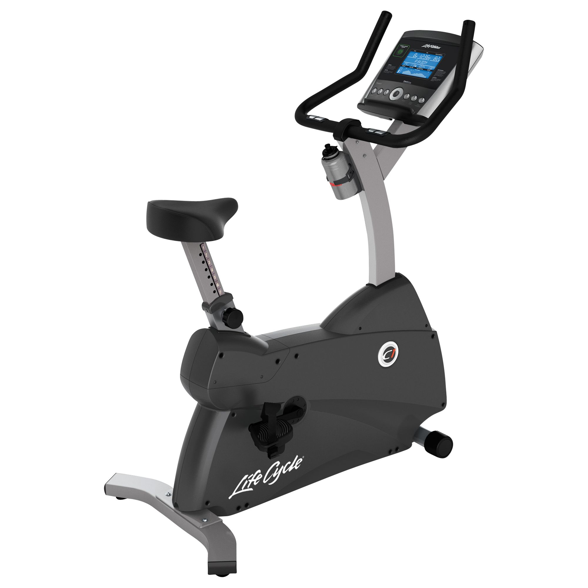 Life Fitness Life Fitness Lifecycle C1 Upright Exercise Bike with Go Console